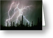Thunderstorms Greeting Cards - Striking Photography Greeting Card by James Bo Insogna
