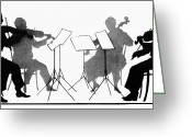 Violinist Greeting Cards - STRING QUARTET, c1935 Greeting Card by Granger