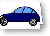 Asbjorn Lonvig Greeting Cards - Student Delight -  Virtual Car Greeting Card by Asbjorn Lonvig