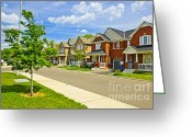 Home Greeting Cards - Suburban homes Greeting Card by Elena Elisseeva