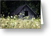 Landscape Photographs Greeting Cards - Summer Barn Greeting Card by Rob Travis