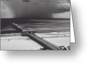 Storm Digital Art Greeting Cards - Summer Storm Greeting Card by Gordon Engebretson