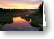 Baxter Park Greeting Cards - Summer Sunrise in Maine Greeting Card by Brian M Lumley