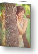 Girl Pyrography Greeting Cards - Summer Greeting Card by Vladimir Zotov