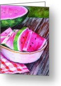 Tasty Pastels Greeting Cards - Summertime Greeting Card by Sherlyn Andersen