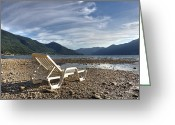 Pebbles Greeting Cards - Sun chair on Lake Maggiore Greeting Card by Joana Kruse