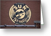 Elvis Presley Greeting Cards - Sun Studio Memphis Tennessee Greeting Card by Wayne Higgs
