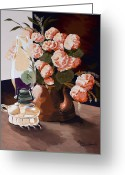 Oil Lamp Greeting Cards - Sunlit II Greeting Card by Jennifer  Donald