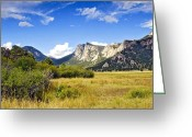 Colorado Greeting Cards Greeting Cards - Sunset At Rocky Mountain Park Co. Greeting Card by James Steele