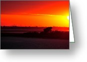 Manhattan Sunset Greeting Cards - Sunset near Manhattan Greeting Card by Dennis Clark