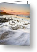 ; Maui Photo Greeting Cards - Sunset Tides Greeting Card by Mike  Dawson