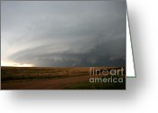 Supercell Greeting Cards - Supercell Thunderstorm Greeting Card by Science Source