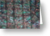 Interior Tapestries - Textiles Greeting Cards - Surfacing Greeting Card by TB Schenck