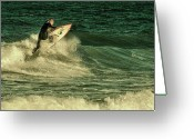 Surf Photos Art Greeting Cards - Surfing - Jersey Shore Greeting Card by Angie McKenzie
