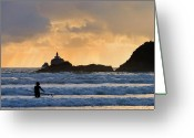 Heavenly Greeting Cards - Surfs Up Greeting Card by Mike  Dawson