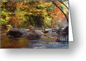 New England Autumn Greeting Cards - Swift River - White Mountains New Hampshire USA Greeting Card by Erin Paul Donovan