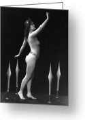 Tiara Greeting Cards - SWORD DANCE, c1920 Greeting Card by Granger
