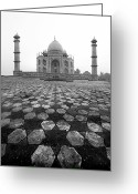 Islamic Greeting Cards - Taj Mahal Greeting Card by Nina Papiorek