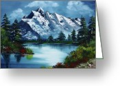 Glacier Greeting Cards - Take A Breath Greeting Card by Barbara Teller