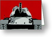 Iraq Greeting Cards - Tank U Very Much Greeting Card by Slade Roberts