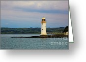 Colour Image Greeting Cards - Tarbert Lighthouse Greeting Card by Gabriela Insuratelu