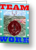 Sports Greeting Cards Greeting Cards - Team Work Greeting Card by Patrick J Murphy