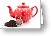 Spout Photo Greeting Cards - Teapot Greeting Card by Tom Gowanlock