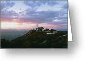 Telescope Domes Greeting Cards - Telescope Domes At The Kitt Peak Observatory Greeting Card by David Parker