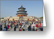 Forbidden City Greeting Cards - Temple of heaven Greeting Card by Wayne Shakell