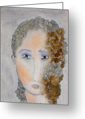 Face Greeting Cards - Tenley Greeting Card by Jude Ongley-Mowris