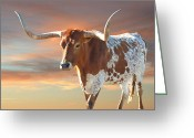 Texas Hill Country Greeting Cards - Texas Icon Greeting Card by Robert Anschutz