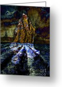 Mountain Texture Greeting Cards - Texture Mountain Greeting Card by Robert Ball