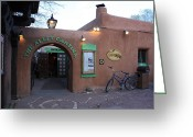 Cantina Greeting Cards - The Alley Cantina Greeting Card by Carrie  Godwin 
