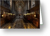 Faith Greeting Cards - The Altar Greeting Card by Adrian Evans
