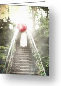 Long Dress Greeting Cards - The Ascent Greeting Card by Stephanie Frey