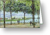 Pram Greeting Cards - The Avenue of Chestnut Trees Greeting Card by Alfred Sisley