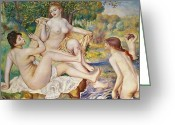 Nudes Greeting Cards - The Bathers Greeting Card by Pierre Auguste Renoir