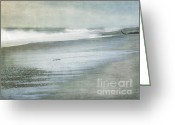 Dark Gray Blue Greeting Cards - The Beach Greeting Card by Linde Townsend