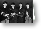 Drummer Greeting Cards - The Beatles Greeting Card by Granger