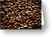 Coffee Beans Greeting Cards - The Best Part of Waking Up Greeting Card by Christi Kraft
