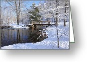 Kent Connecticut Greeting Cards - The Bridge Greeting Card by Bill  Wakeley