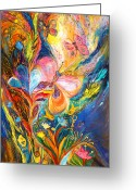 Kabbalah Greeting Cards - The Butterflies Greeting Card by Elena Kotliarker