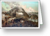 Scene Mixed Media Greeting Cards - The Capture Of Fort Fisher Greeting Card by War Is Hell Store