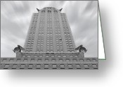 White Digital Art Greeting Cards - The Chrysler Building 2 Greeting Card by Mike McGlothlen
