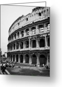 2007 Greeting Cards - The Colosseum at dusk Rome Lazio Italy Greeting Card by Joe Fox