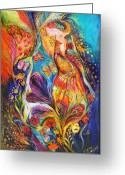 Signed Greeting Cards - The dance of butterflies Greeting Card by Elena Kotliarker
