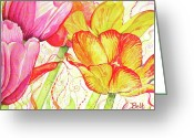 Christine Belt Greeting Cards - The Dance of Spring Greeting Card by Christine Belt
