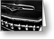 Chrome Grill Greeting Cards - The DeSoto Greeting Card by David Patterson