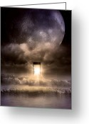 Moonrise Digital Art Greeting Cards - The Door Greeting Card by Svetlana Sewell