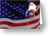 Strips Greeting Cards - The Eagle Greeting Card by Stefan Kuhn